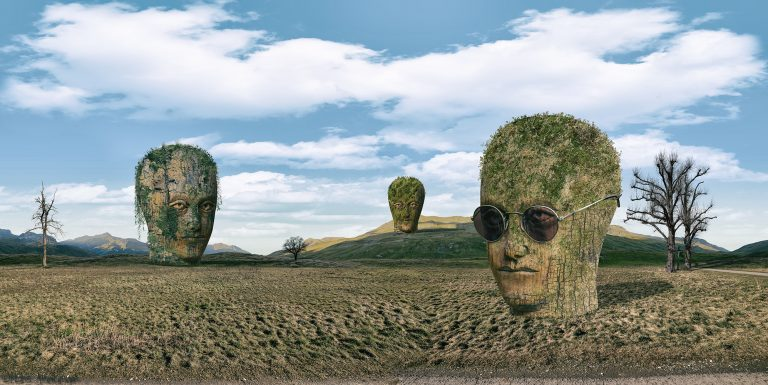 the brain surreale collage