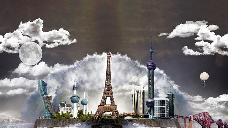 Gebäude und Tower
