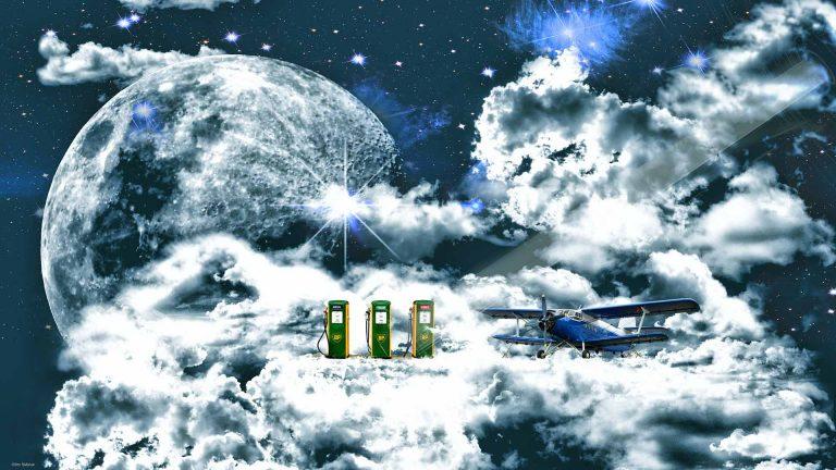 Antonov in den Wolken