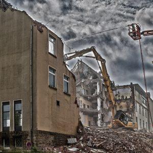 Abriss eines Altenheimes in Geseke