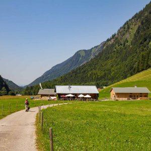 Blick auf die Alpe Oberau